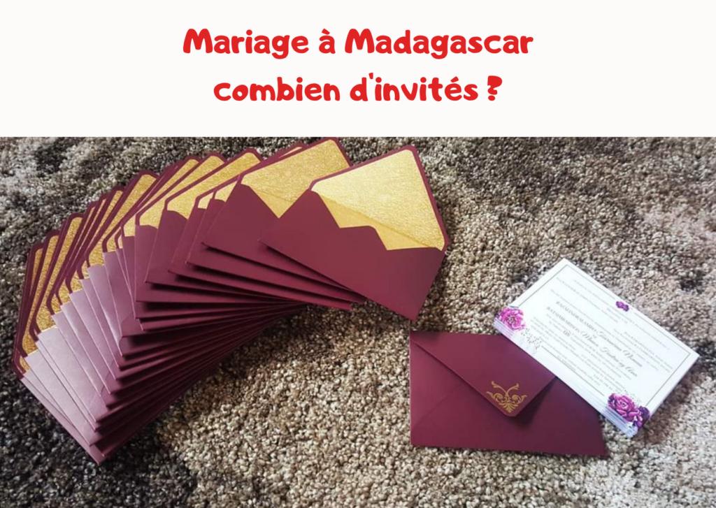 Invite mariage madagascar